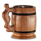 Großer hölzerner Bierkrug – Eiche – Tolle Handwerkskunst