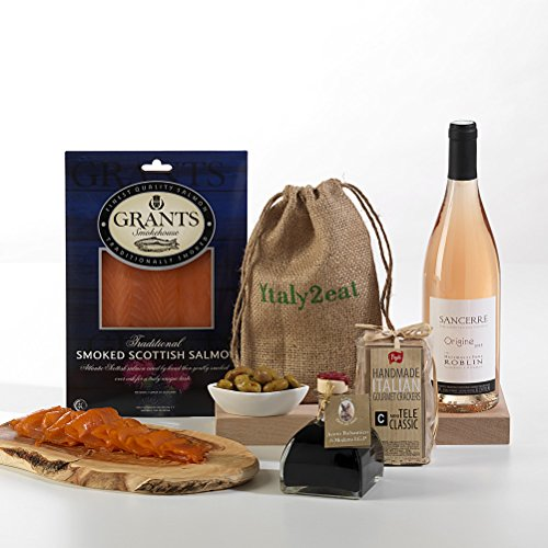 Hay Hampers Smoked Salmon & Sancerre Gourmet Dinner Hamper Gift - FREE UK Delivery