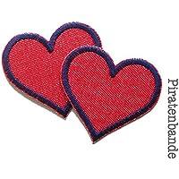 Set 2 Jeansflicken Herz Flicken zum aufbügeln für Mädchen