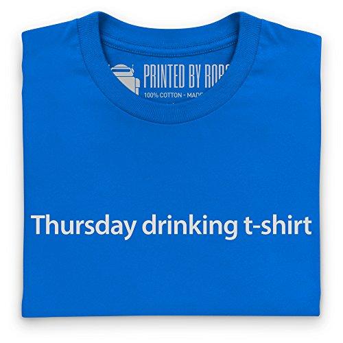 Thursday Drinking T-Shirt, Damen Royalblau