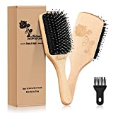 Hair Brush-Boar Bristle Hair Brushes for Thick,Fine,Straight,Curly, Wavy, Long, Dry & Wet Hair