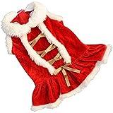 FEITONG Navidad de la vendimia Santa Claus Sofá Cama Decoración Amortiguador de la cubierta Funda de almohada (L, Rojo)