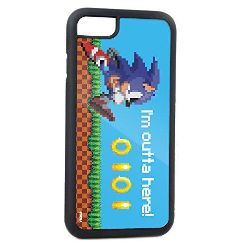 Buckle-Down Handy Schutzhülle für Galaxy S6–Sonic Pixelated Running Pose/Ringe I 'm Outta Here. Blau–Sega Sonic