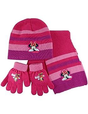 MINNIE Set Inverno 3pz. Minnie CAPPELLO + SCIARPA + GUANTI Completo inverno bambina disney lana