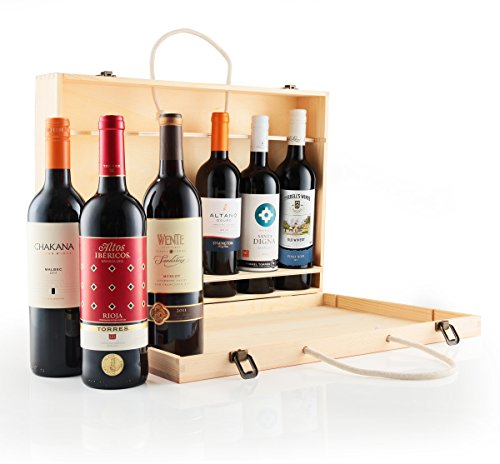 Luxury Mixed Red 6 Bottle Wine Gift Set Beautifully Presented In A