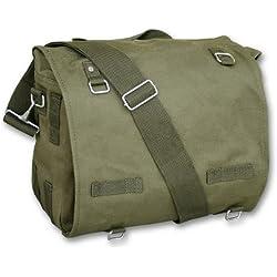 Sac Messenger Besace Musette à Bandoulière US Army - Coloris Kaki - Airsoft - Paintball - Outdoor - Moto - Chasse - Pêche - Randonnée