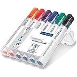 Staedtler 351WP6 Lumocolor Whiteboard Marker Bullet Tip - Assorted Colours, Pack of 6