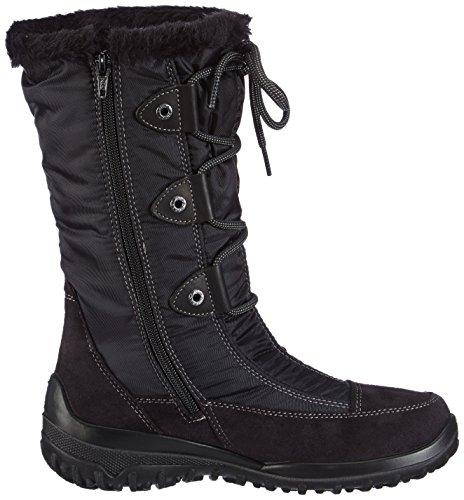 Gabor Shoes 96.738.67 Damen Warm gefütterte Schneestiefel Schwarz (schwarz (Webl.))