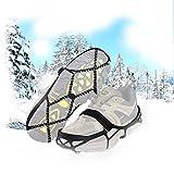 Newdora Schuhkrallen Anti-Rutsch-Sohlen Stollen für Winter Schnee oder EIS Laufen Klettern 36-44 Schuhe Männer Frauen