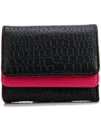 F9Q femme synthétique PU cuir bouton Porte-cartes de crédit sac à main Lady court sac Clutch Wallet Portefeuilles sac