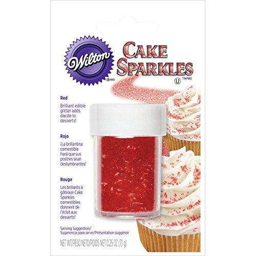 Wilton Cake Sparkles .25oz-Red - Skala-timer