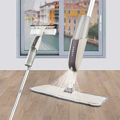 SHELLTB 2 in 1 Spray-Mopp und Fenster-Reinigungs-Satz, Boden-Mopp für Küchen-Badezimmer-Hartholz-Laminat-Holz-Keramikfliesen-Fensterglas,1pcs -