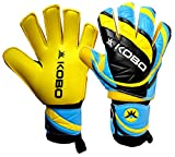 Kobo 23158.5 Pro Grip Goal Keeper Gloves, Medium (Fluorescent Green Yellow and Black)