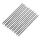 sourcing map 15 piezas PVC Atadura de cables de la correa 4.6x300mm recubiertos de acero inoxidable Tubo de escape de cabecera