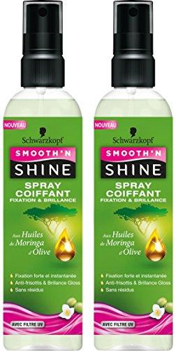 SMOOTH 'N SHINE Spray Coiffant Fixation et Brillance 250 ml - Lot de 2