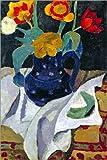 Forex-Platte 80 x 120 cm: Stillleben mit Tulpen in Blauem Topf von Paula Modersohn-Becker/ARTOTHEK