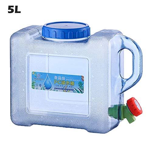 thelastplanet Wassertank Für Fahrzeug Camping Picknick Outdoor BBQ Und Lange Reise Wasserbehälter Wasser Behälter Camping Wasserkanister Mit Hahn Wasserspender Kanister Transparent 5L 8L