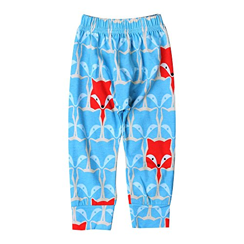 Pingtr Baby Schlafanzughose,Neugeborenes Baby Jungen Mädchen Fox Print Pluderhosen Kinder Hosen Kleidung -