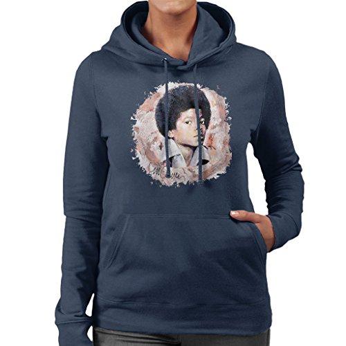 Sidney Maurer Young Michael Jackson Official Women's Hooded Sweatshirt Navy blue
