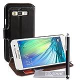 Yousave Accessories® Custodia Portafoglio con Stilo Penna per Samsung Galaxy A3, Pelle PU Basamento, Nero
