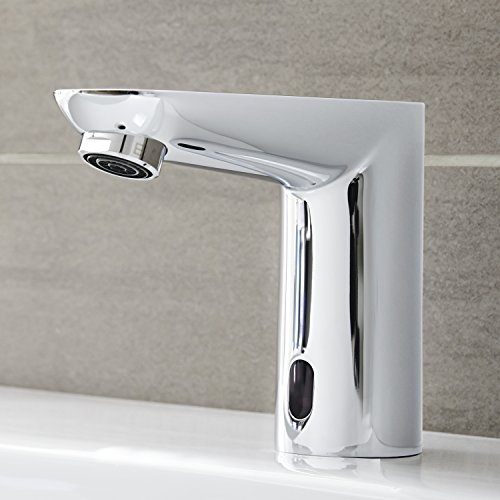 Grohe – Infrarot Sensorarmatur, Waschtisch, Kaltwasserarmatur, mit Batterie, Funktionsmodi, Chrom, Euroeco CE - 3