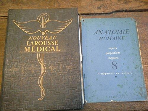 Nouveau Larousse médical 1952 avec son fascicule amovible de 8 transparents en couleurs anatomie humaine