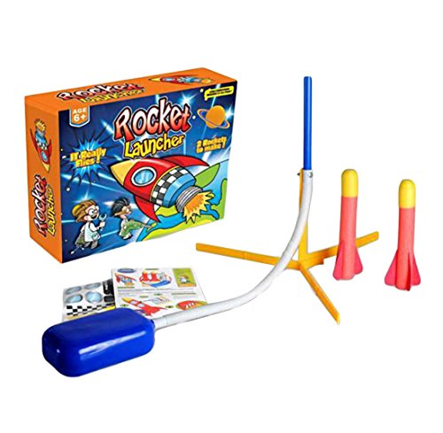 Jump Jet Rocket Spielzeug Jet Shot Blaster Air Powered Launcher Rocket Outdoor für Kinder von Hi suyi (Jet-blaster)