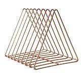 Vosarea Schreibtisch Bücherregal Metall Dreieck Form Tischregal Organizer (Roségold)