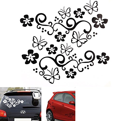 X Butterfly Flower Vinyl Car GraphicsStickersDecals Each - Car window stickers amazon uk