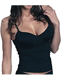 Sassa Damen BH Hemd Unterhemd Shirt Top mit Bügel 35060 schwarz B-D 70-95