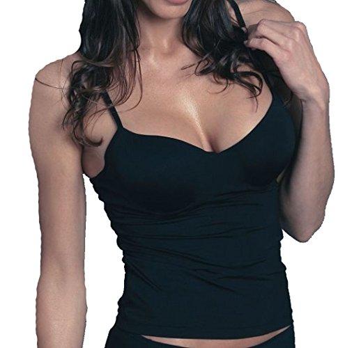 Sassa Damen BH Hemd Unterhemd Shirt Top mit Bügel 35060 schwarz 95 D