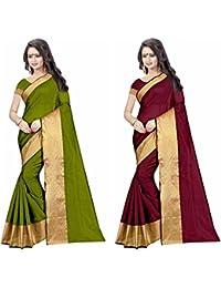 Sky Global Women's Cotton Silk Saree Combo (Sky_combo_2283)