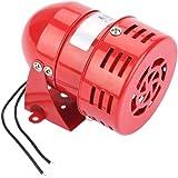 Akozon MS-190 220V Red Sonido continuo Sirena del zumbador 120DB Motor Viento Alarma Mini alarma de motor de metal rojo Sonid
