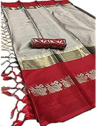 Latest Fashion Saree Women's Cotton Silk Saree With Blouse Piece