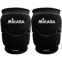 Mikasa - Rodilleras profesionales de voleibol MT9Kinpy (un par), de color negro, Senior