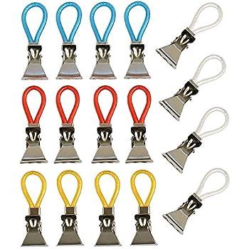12 Stück Handtuchhalter Haken Aufhängeclips Aufhängeöse Handtuchhaken Haken