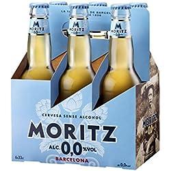 Moritz Aigua Cerveza - Paquete de 6 x 330 ml - Total: 1980 ml