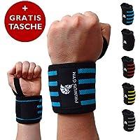 PRIMUS GYM Fitness Handgelenk Bandagen (60 cm) 2er Set, für Bodybuilding, Kraftsport, Crossfit - Wrist Wraps - Für Frauen & Männer