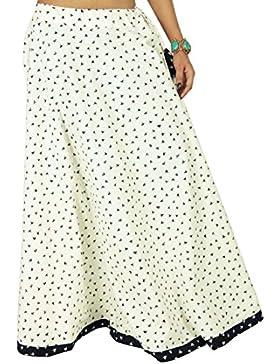 Bird Imprimir manera de las mujeres del algodón del desgaste de la falda del cordón del Hippie de Boho Beach