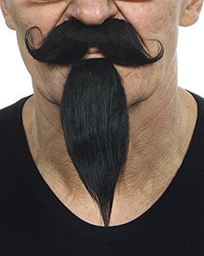 Preisvergleich Produktbild Mustaches Schwarzer Kaiser Napoleon III. fälschen,  selbstklebend Schnurrbart mit Bart
