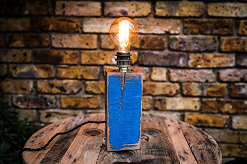 table-lamp-with-blue-detail-handmade-from-reclaimed-hard-wood-with-vintage-bulb