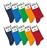 Mat And Vic's Chausettes, Confortables, Respirantes - Fun Colors - Lot de 10 paires 35-38