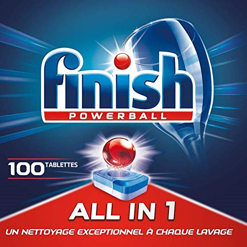 Finish Powerball All in One Max Pastilles Lave-Vaisselle - 100 Pastilles