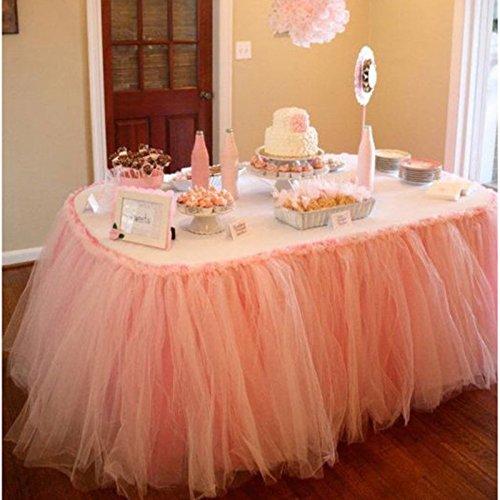 handmade tutu tabella gonna in tulle da tavola per baby shower birthday party wedding event. Black Bedroom Furniture Sets. Home Design Ideas