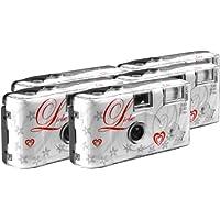 TopShot Love Hearts - 5 cámaras desechables (27 fotos, flash), color blanco