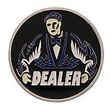 Sharplace Dealer Repartidor Chip Ficha Hold'em de Metal Accesorio para Casino