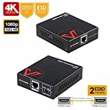 HDMI Extender 1080P 3D 60M, 4Kx2K@30Hz 40M, Two-Way IR, HDMI Repeater Over Single CAT5e / 6 / 7, Independent DIP Switch for EDID, HDCP1.4, HDR, Dolby True HD+DTS HD Master Audio+PCM7.1