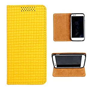 i-KitPit PU Leather Flip Case For Karbonn A10 (YELLOW)