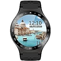 S99A Bluetooth Android 5.1 OS 3G Smart Watch cellulare MTK6580 Quad-Core Smartwatch con 5.0 MP fotocamera GPS WiFi & frequenza cardiaca pedometro monitorare (Nero)