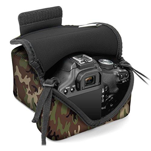 Funda de Cámara Digital | Estuche Semipermeable para Cámara Reflex Por USA Gear | Bolsa Protectora DSLR para Nikon D3300 D750 D5300 D5500 Canon EOS 1300D 100D 700D 750D Pentax K50, Accesorios y más